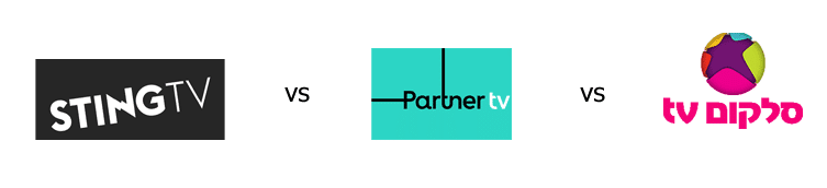 השוואה בין cellcom tv partner tv sting tv