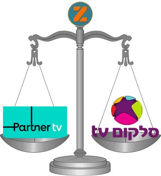 השוואה בין פרטנר TV לסלקום TV