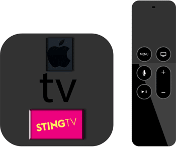 apple tv & sting tv